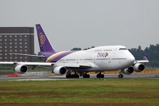 タイ国際航空 B747-400