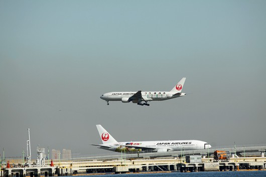 JAL特別塗装機同士のツーショット