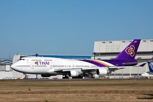 TG/THA/タイ国際航空 B747-400 HS-TGK