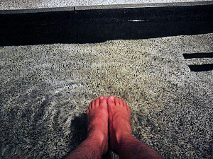 鬼怒川温泉の足湯は塩素がきつかった