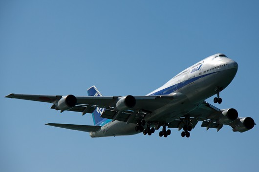 NH/ANA/全日空 B747-400D JA8960 Approaching OKA RWY36