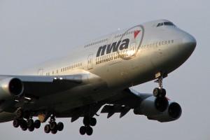 成田が輝いていた頃のノースウェスト機