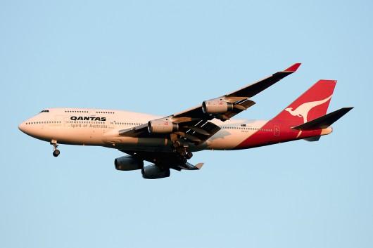 QF/QFA/カンタス航空 QF25 B747-400 VH-OJI