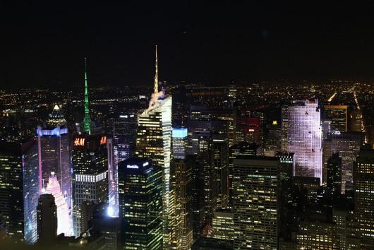 タイムズ・スクウェア方面の夜景