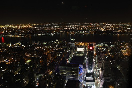 102階からペンシルバニア駅方面を見る