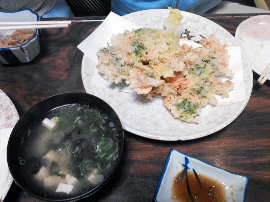 桜えびのかき揚げ定食1400円