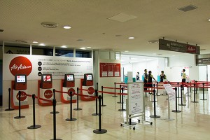 成田空港の旧Airasiaチェックインカウンター