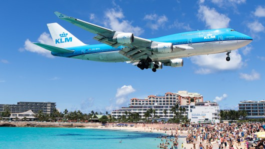 KL/KLM/KLMオランダ航空 KL785 B747-400M PH-BFH at SXM