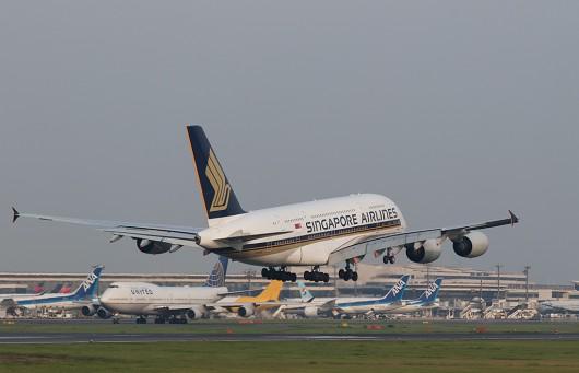 SQ/SIA/シンガポール航空 SQ12 A380 9V-SKM