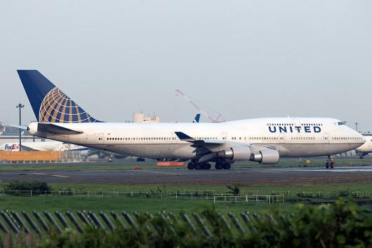 UA/UAL/ユナイテッド航空 UA881 B747-400 N117UA
