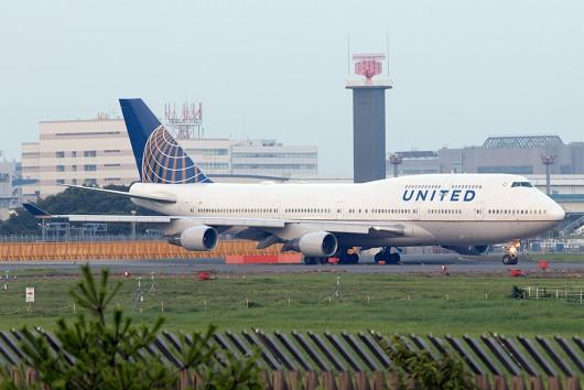 UA/UAL/ユナイテッド航空 UA882 B747-400 N182UA