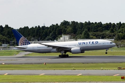 UA/UAL/ユナイテッド航空 UA827 B777-200 N212UA