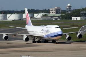 CI/CAL/チャイナエアライン CI100 B747-400 B-18203