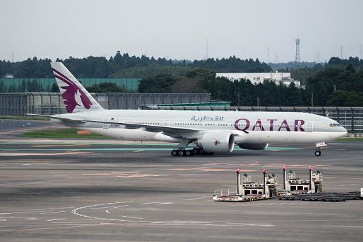 QR/QTR/カタール航空 QR800 B777-200 A7-BBB