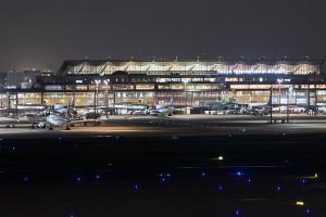 国際線ターミナルの夜景