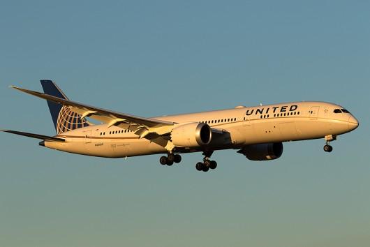 UA/UAL/ユナイテッド航空  B787-8 N38950