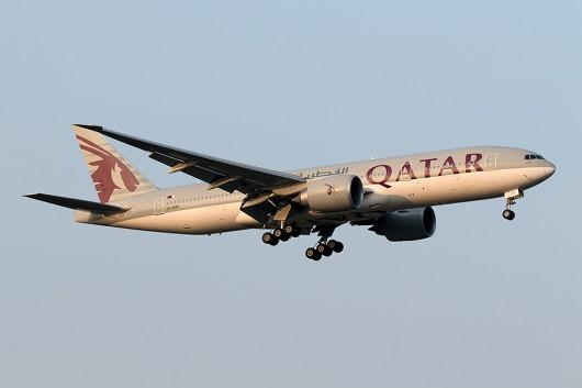 QR/QTR/カタール航空 QR805 B777-200LR A7-BBF