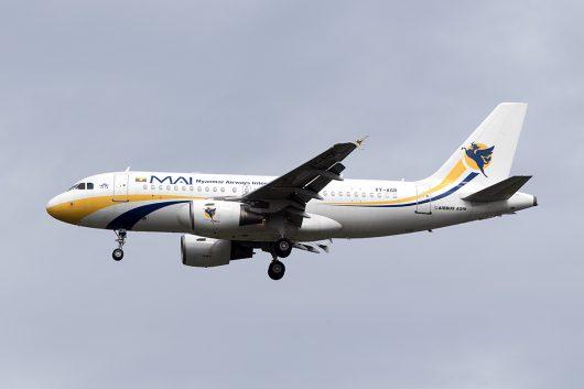 8M/MMA/ミャンマー国際航空 8M335 A319 XY-AGR