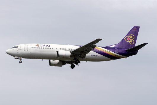 TG/THA/タイ国際航空  B737-400 HS-TDG