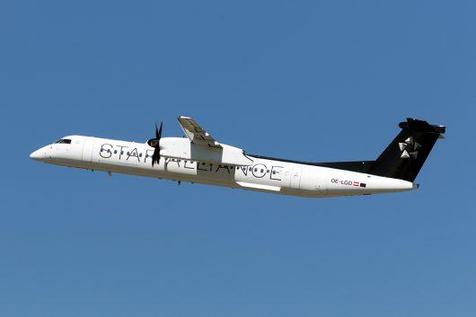 OS/AUA/オーストリア航空  DHC8-400 OE-LGO