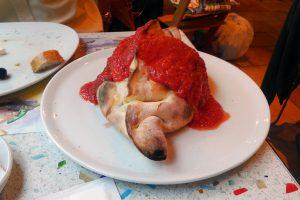 イタリアンレストランで夕食