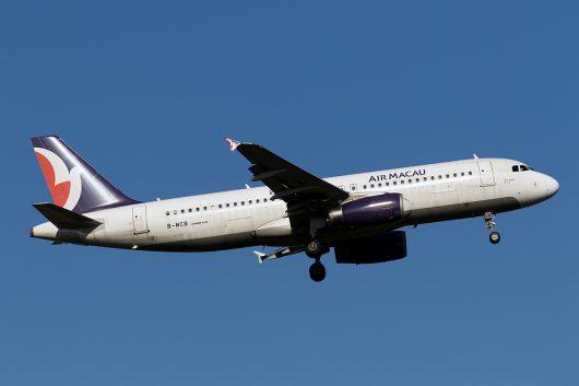 NX/AMU/マカオ航空 NX862 A320 B-MCB