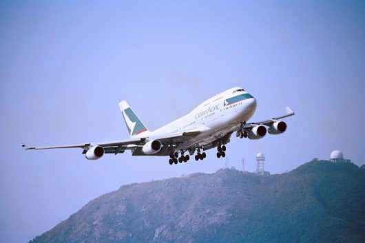 CX B747-400 香港カーブ