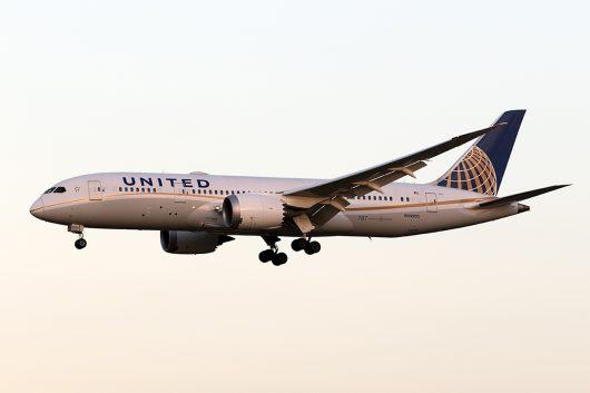 UA/UAL/ユナイテッド航空  B787-8 N45905