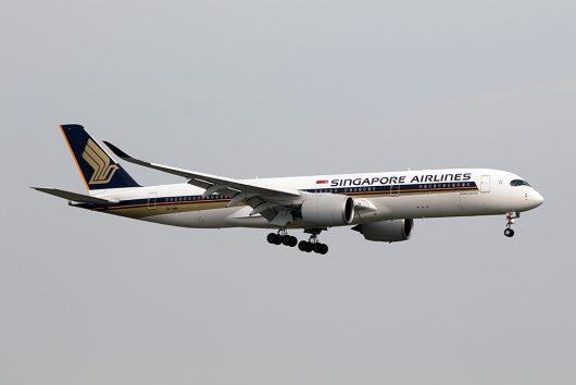 SQ/SIA/シンガポール航空 SQ632 A350-900 9V-SMH