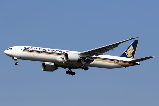 SQ/SIA/シンガポール航空 SQ638 B777-300ER 9V-SWS