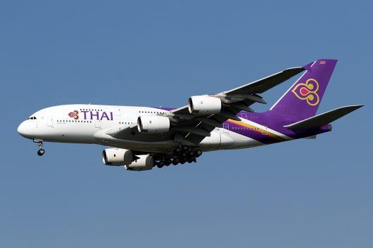 TG/THA/タイ国際航空 TG640 A380 HS-TUE