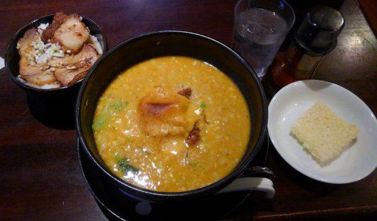 焼きチーズカレー担々麺