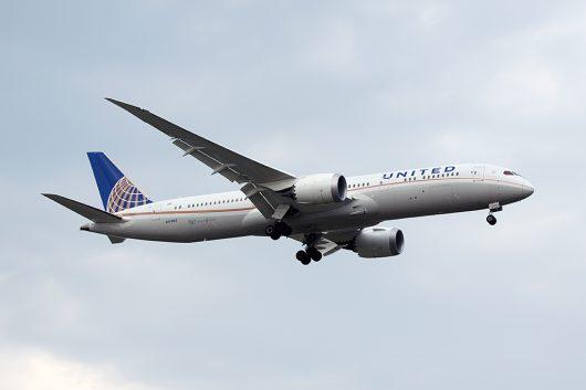 UA/UAL/ユナイテッド航空  B787-8 N17963
