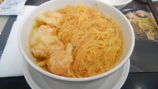 正斗鮮蝦雲呑麺(エビ入り雲呑麺)