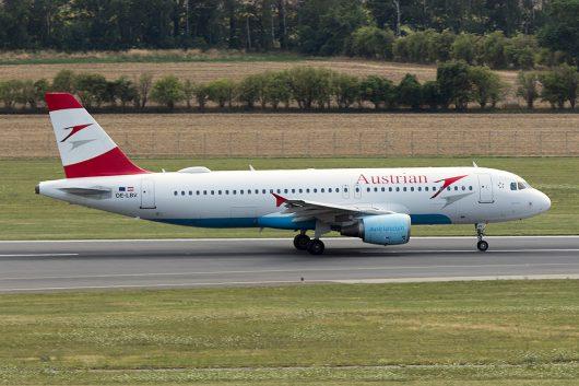 OS/AUA/オーストリア航空  A320 OE-LBV