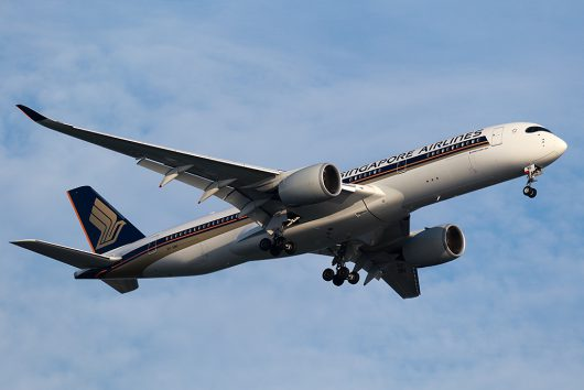 SQ/SIA/シンガポール航空 SQ632 A350-900 9V-SMG