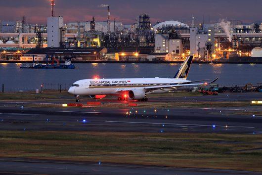 SQ/SIA/シンガポール航空 SQ633 A350-900 9V-SME