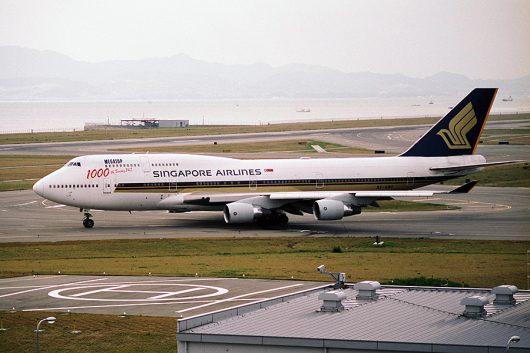 SQ/SIA/シンガポール航空 B747-400 9V-SMU