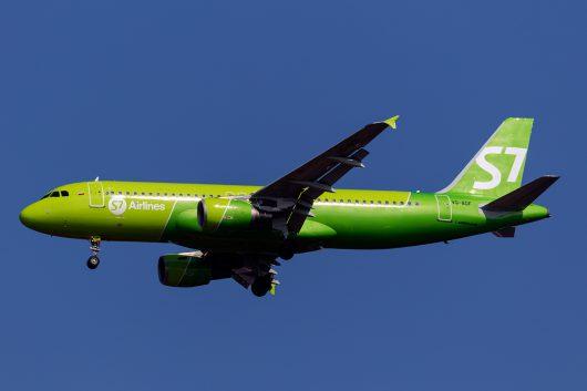 S7/SBI/S7航空 S7565 A320 VQ-BDF