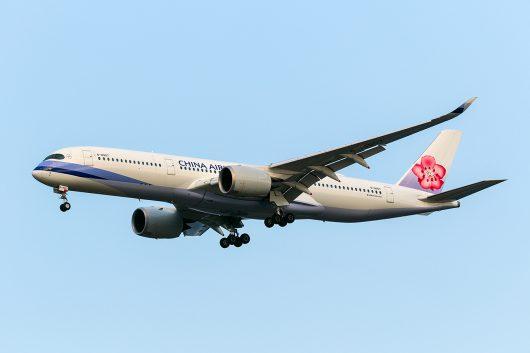 CI/CAL/チャイナエアライン CI104 A350-900 B-18907