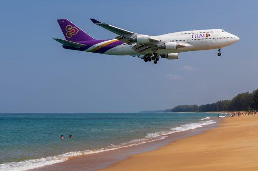 TG/THA/タイ国際航空 TG203 B747-400 HS-TGA