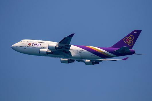 TG/THA/タイ国際航空 TG204 B747-400 HS-TGA