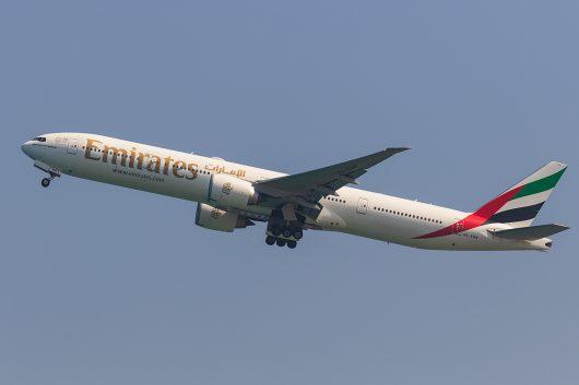 EK/UAE/エミレーツ航空 EK397 B777-300ER A6-ENW