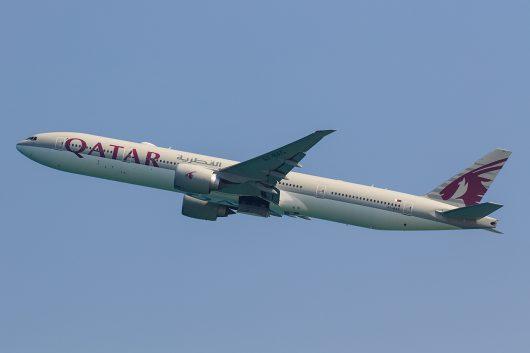 QR/QTR/カタール航空 QR843 B777-300ER A7-BAC