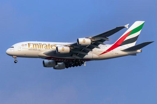 EK/UAE/エミレーツ航空 EK374 A380 A6-EUD