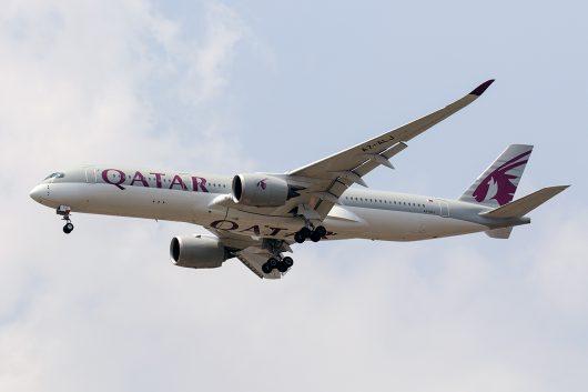 QR/QTR/カタール航空 QR834 A350-900 A7-ALJ