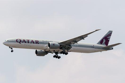 QR/QTR/カタール航空  B777-300ER A7-BAW