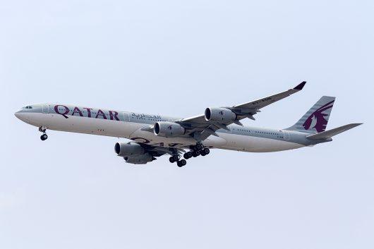 QR/QTR/カタール航空 QR836 A340-600 A7-AGB