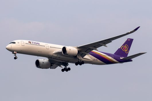 TG/THA/タイ国際航空 TG518 A350-900 HS-THN