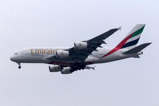 EK/UAE/エミレーツ航空 EK374 A380 A6-EEJ